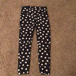 Outdoor voices polka dot leggings size XS